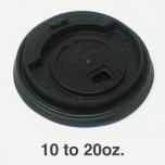 黑色塑料可掀咖啡杯盖10-20 oz.  - 1000/箱