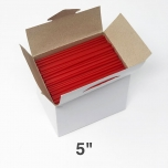 """小号红色塑料咖啡搅拌棒5"""" - 8500/箱"""
