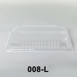 """008-L Rectangular Clear Plastic Sushi Tray Container Lid 6 1/2"""" X 4 1/2"""" X 1 1/8"""" - 1500/Case"""