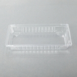 """015-L Rectangular Clear Plastic Sushi Tray Container Lid 8 1/2"""" X 5 3/8"""" X 1 1/8"""" - 1000/Case"""