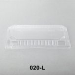 """020-L Rectangular Clear Plastic Sushi Tray Container Lid 9 3/8"""" X 5 3/4"""" X 1 1/8"""" - 800/Case"""