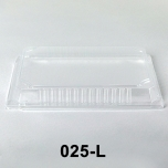 """025-L Rectangular Clear Plastic Sushi Tray Container Lid 10 1/4"""" X 7 3/8"""" X 1 3/8"""" - 504/Case"""