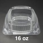 J048 正方形透明塑料盒 16 oz. - 240/箱