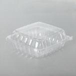 Dart 46 oz. 正方形透明塑料餐盒 (C90PST1) - 250/箱
