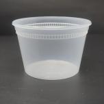 16 oz. 圆形透明塑料汤盒套装 - 240套/箱