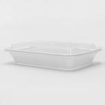 RT 长方形白色塑料餐盒套装 28 oz. (868) - 150套/箱