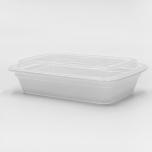 RT 长方形白色塑料餐盒套装 32 oz. (878) - 150套/箱