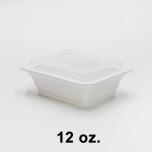 SR 12 oz. 长方形白色塑料餐盒套装 (818) - 150套/箱