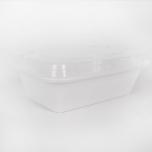 SR 24 oz. 长方形白色塑料餐盒套装 (838) - 150套/箱