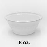SR 8 oz. 圆形白色塑料碗套装 (B08) - 240套/箱