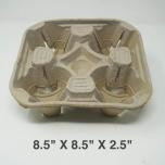 """正方形棕色杯托8.5"""" X 8.5"""" X 2.5"""" - 220/箱"""