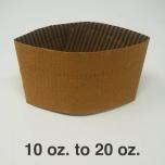 棕色隔热杯套 10-20 oz.  - 1000/箱