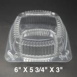 Dart 20 oz. 正方形透明塑料餐盒 (C57PST1) - 500/箱