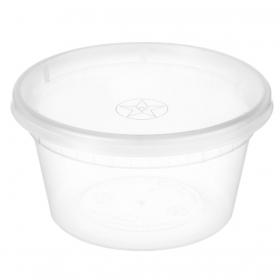 WY 圆形透明塑料汤盒套装 16 oz. - 240套/箱