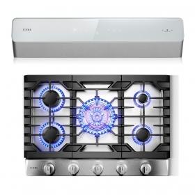 方太 烟灶套系2件,UQS3002 30寸柜下式超静音油烟机,GLS30501 30寸 三环灶