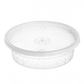 WY 圆形透明塑料汤盒套装 8 oz. - 240套/箱
