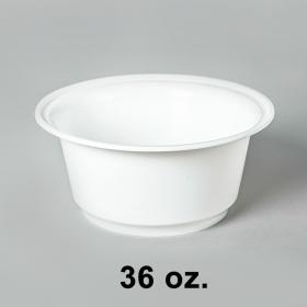 AHD 圆形白色塑料碗底 36oz. (8340) (非套装) - 200/箱