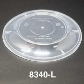 AHD 圆形透明塑料碗盖 (8320/8340) - 300/箱