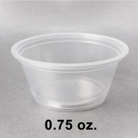 塑料透明调料杯 0.75 oz. (非套装) - 2500/箱