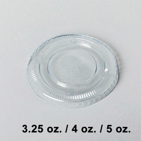 Plastic Lid for 3.25 to 5oz. Plastic Portion Cup - 2000/Case