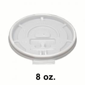 白色塑料可掀咖啡杯盖 8 oz.  - 1000/箱