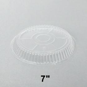 """圆形透明塑料盖7"""" - 500/箱"""