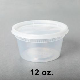 SD 12oz. 圆形透明汤盒套装 - 240套/箱