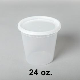 SD 24oz. 圆形透明汤盒套装 - 240套/箱
