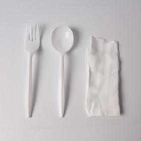 餐具三件套 纸巾, 叉, 勺 - 450/箱