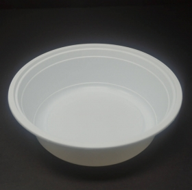 SD 32 oz. 圆形白色塑料餐盒套装 (729) - 150套/箱