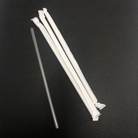 """7 3/4"""" Jumbo Clear Plastic Individual Wrapped Straw - 9600/Case"""