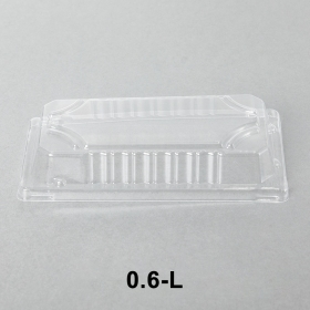 "0.6-L 长方形透明塑料寿司盘盖 6 3/8"" X 3 1/2"" X 1 1/8"" - 1500个/箱"