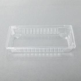 "015-L 长方形透明塑料寿司盘盖 8 1/2"" X 5 3/8"" X 1 1/8"" - 1000个/箱"