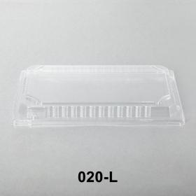 "020-L 长方形透明塑料寿司盘盖 9 3/8"" X 5 3/4"" X 1 1/8"" - 800个/箱"