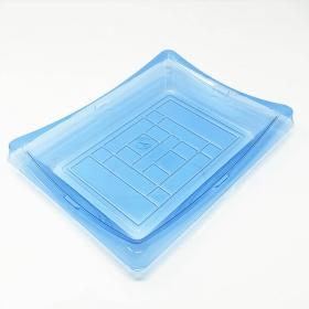 """150 长方形浅蓝色塑料寿司盘套装 9 1/4"""" X 7 1/4"""" X 1 1/2"""" - 200套/箱"""