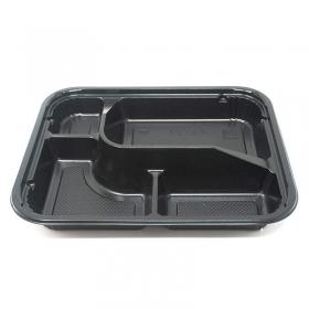 """305-02 长方形黑色塑料便当盒套装 #02 9 3/8"""" X 7 1/2"""" X 1 3/8"""" - 252套/箱"""