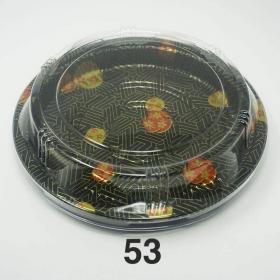 """53 圆形花纹塑料派对餐盘套装 9 1/2"""" X 7/8"""" - 150套/箱"""