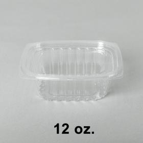8012 长方形透明塑料盒套装 12oz. - 240套/箱