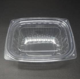 8012 Rectangular Clear Plastic Container Set 12oz. - 240/Case