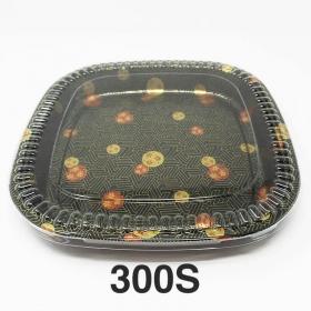 """300S 正方形花纹塑料派对餐盘套装 13 3/8"""" X 13 3/8"""" X 1 5/8"""" - 60套/箱"""