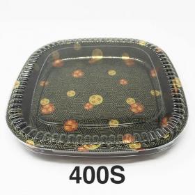 """400S 正方形花纹塑料派对餐盘套装 14 1/8"""" X 14 1/8"""" X 1 5/8"""" - 60套/箱"""