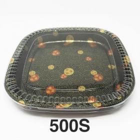 """500S 正方形花纹塑料派对餐盘套装 16 1/8"""" X 16 1/8"""" X 1 5/8"""" - 60套/箱"""