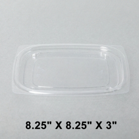 Dart 长方形透明塑料盒盖 C8DE/C16DE - 1008/箱