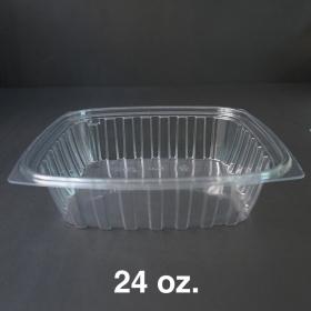 Dart 24 oz. 长方形透明塑料盒底 C24DER (非套装) - 504/箱