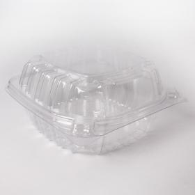 Dart 14 oz. 正方形透明塑料餐盒 (C53PST1) - 500/箱