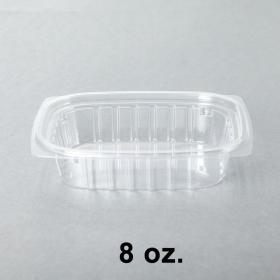 Dart 8 oz. 长方形透明塑料盒底 C8DER (非套装) - 1008/箱