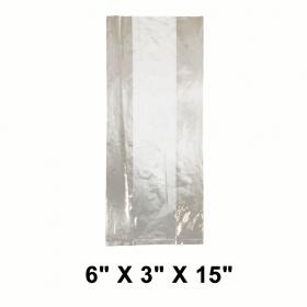 """LDPE 加厚透明保鲜袋 6"""" X 3"""" X 15"""" - 420/箱"""