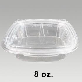 Dart 长方形透明塑料盒套装 8 oz. (CH8DEF) - 200/箱