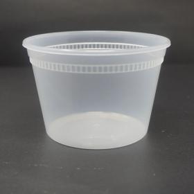 HT 16 oz. 圆形透明塑料汤盒套装 - 240套/箱