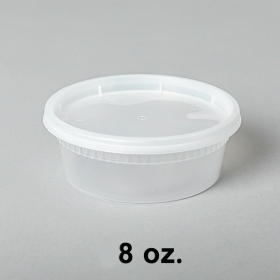 8 oz. Round Clear Plastic Soup Container Set - 240/Case